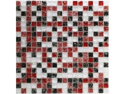 CRA017 - Crackle Glas, Mosaik Glasfliese 30x30 cm. Acqualine