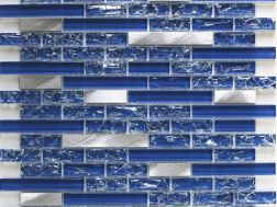CRA020- Crackle Glas, Mosaik Glasfliese 29,8x30,5 cm. Acqualine