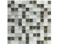 CRA022 -Crackle Glas, Mosaik Glasfliese 30x30 cm. Acqualine