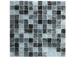 CRA024 - Crackle Glas, Mosaik Glasfliese 30x30 cm. Acqualine