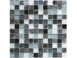 CRA025- Crackle Glas, Mosaik Glasfliese 30x30 cm. Acqualine