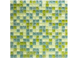 CRA028 - Crackle Glas, Mosaik Glasfliese 30x30 cm. Acqualine