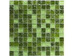 CRA030 - Crackle Glas, Mosaik Glasfliese 30x30 cm. Acqualine