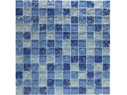 CRA032 - Crackle Glas, Mosaik Glasfliese 30x30 cm. Acqualine