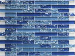 CRA033 - Crackle Glas, Mosaik Glasfliese 29,8x30,5  cm. Acqualine