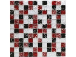 CRA016 - Crackle Glas, Mosaik Glasfliese 30x30 cm. Acqualine