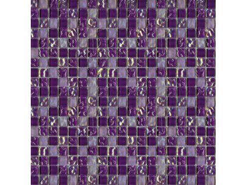 C016 Cristal Lila Mosaik Blatt 30x30 Cm, Halcon.