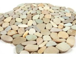Mini, Pebbles, Mosaic beige/grün. Mat Inter