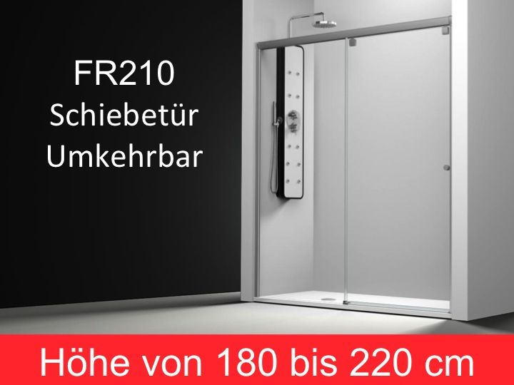 duschabtrennungen largeur 170 schiebet r duscht r 170 cm befestigungs links h he 180 220 cm. Black Bedroom Furniture Sets. Home Design Ideas