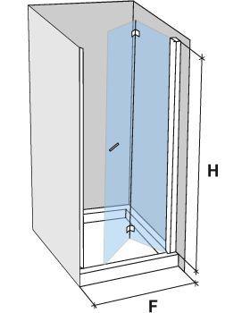 duschabtrennungen largeur 85 duscht r faltt r 85 cm montage rechts h he 180 220 cm ac218. Black Bedroom Furniture Sets. Home Design Ideas