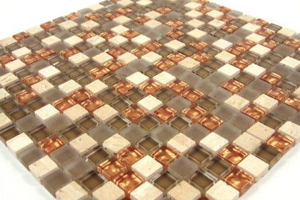 Boden Und Wandfliesen Mosaiken Und Kiesel Mischung Kupfer
