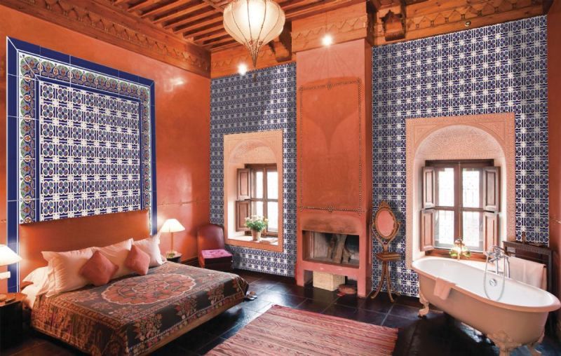 boden und wandfliesen oriental granada base 14x28 cm orientalische fayence fliesen. Black Bedroom Furniture Sets. Home Design Ideas