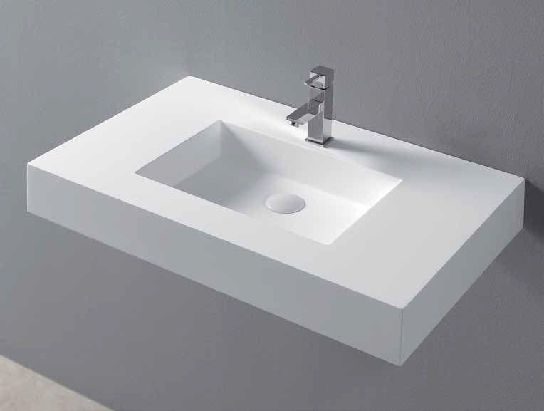 waschbecken largeur 60 waschbecken corian 60 x 50 cm resin solid surface wei. Black Bedroom Furniture Sets. Home Design Ideas