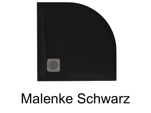 duschwanne longueur 80 duschwanne vierte runde schwarz malenke q5. Black Bedroom Furniture Sets. Home Design Ideas