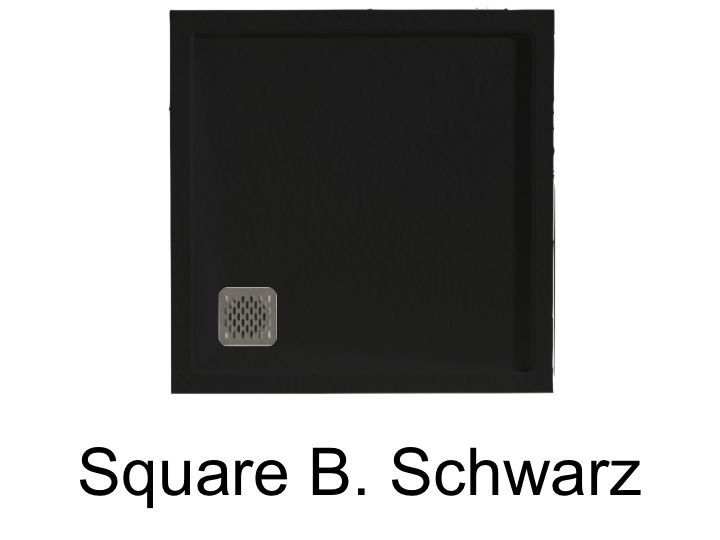 duschwanne longueur 80 rechteck duschwanne evakuierung ecke schwarz square q4 80x80. Black Bedroom Furniture Sets. Home Design Ideas