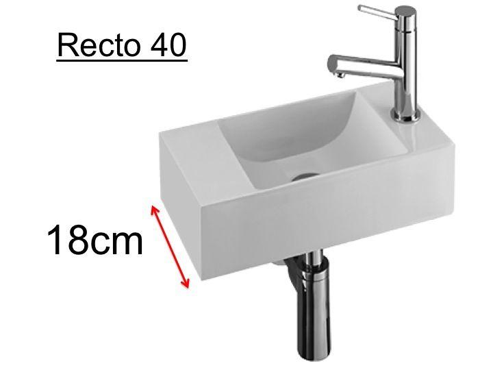 badm bel waschbecken handwaschbecken lave mains h nde waschen resin tiefe 18 cm montage. Black Bedroom Furniture Sets. Home Design Ideas