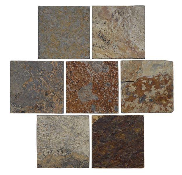 Boden Und Wandfliesen Terrasse: Fliesen Und Natursteinplatte 10x10 Cm, Piedras Multicolore