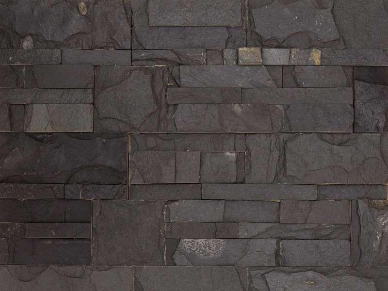 boden und wandfliesen parement pierre naturstein wandverkleidung 18x35cm zeta schwarz. Black Bedroom Furniture Sets. Home Design Ideas