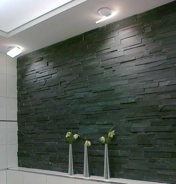 boden und wandfliesen parement pierre naturstein wandverkleidung 18x50cm laja schwarz. Black Bedroom Furniture Sets. Home Design Ideas