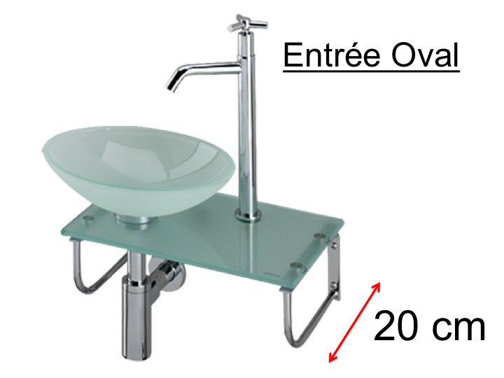 waschbecken glassch ssel mit oval auf glasregal. Black Bedroom Furniture Sets. Home Design Ideas