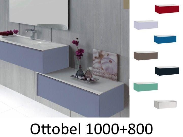 Badmöbel - Waschbecken - Handwaschbecken Meuble Teck - Badezimmer ...