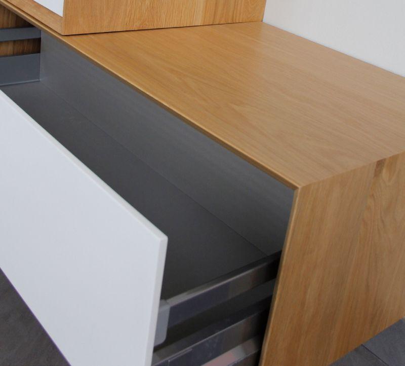 Badezimmer-Möbel 100 Cm, Versetzt Zwei Elemente In Eiche