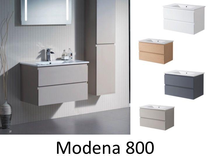 Badezimmerschrank , suspendiert, mit einem Keramik-Waschbecken von ...