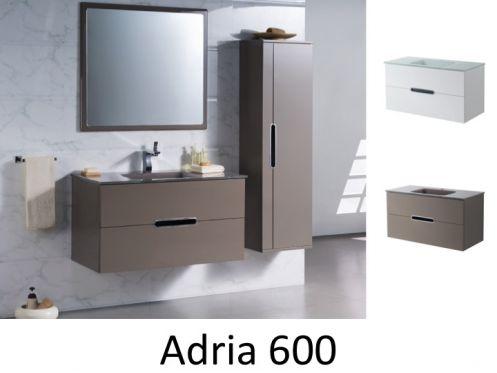 badm bel waschbecken handwaschbecken meuble teck schrank badezimmer suspendiert 60 cm. Black Bedroom Furniture Sets. Home Design Ideas