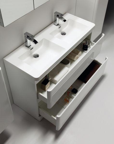 badm bel waschbecken handwaschbecken meuble sdb m bel bad doppelwaschbecken 120 cm. Black Bedroom Furniture Sets. Home Design Ideas