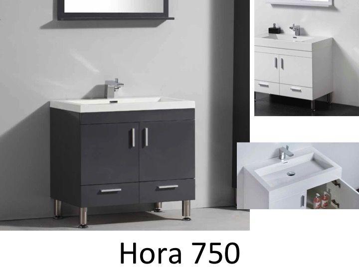 Badezimmermöbel Füße, 75 Cm, Weiß Oder Grau Lackiert ...