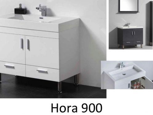 badm bel waschbecken handwaschbecken meuble sdb badezimmerm bel f e 90 cm wei oder. Black Bedroom Furniture Sets. Home Design Ideas