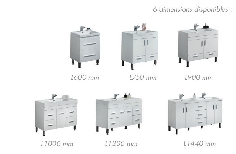Badmöbel - Waschbecken - Handwaschbecken Meubles SDB ... | {Badezimmermöbel doppelwaschbecken grau 57}