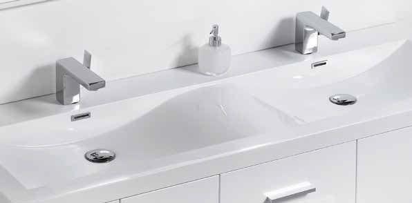 Badmöbel - Waschbecken - Handwaschbecken Meubles SDB ... | {Badezimmermöbel doppelwaschbecken grau 34}