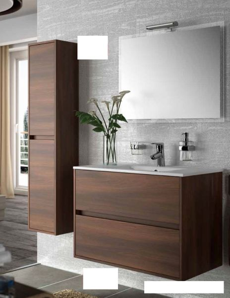 badm bel waschbecken handwaschbecken meuble sdb badm bel 80 cm noja 800 2t. Black Bedroom Furniture Sets. Home Design Ideas