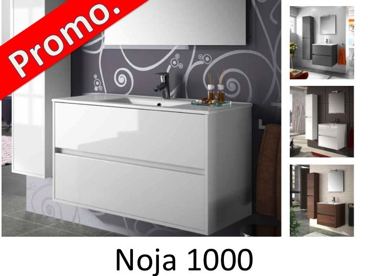 badm bel waschbecken handwaschbecken meuble sdb badm bel 100 cm noja 1000 2t. Black Bedroom Furniture Sets. Home Design Ideas