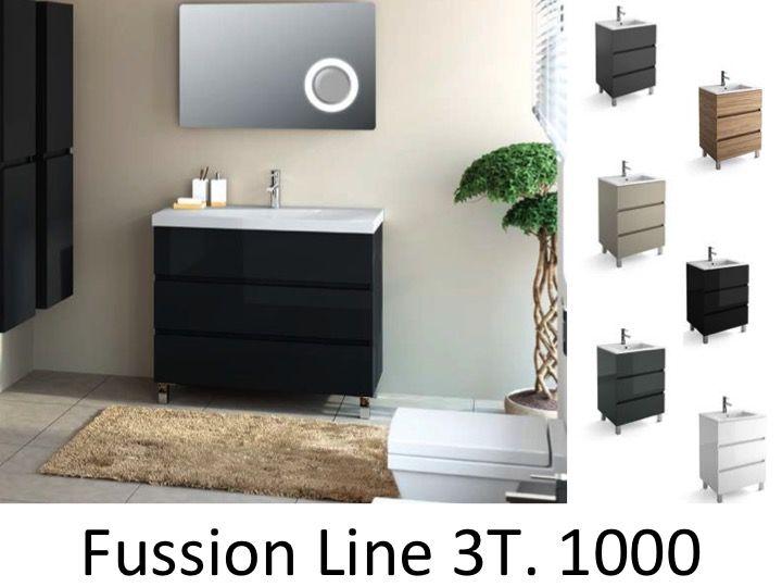 Badm bel waschbecken handwaschbecken meuble sdb badm bel 100 cm fussion line 1000 3t - Badmobel 100 cm ...