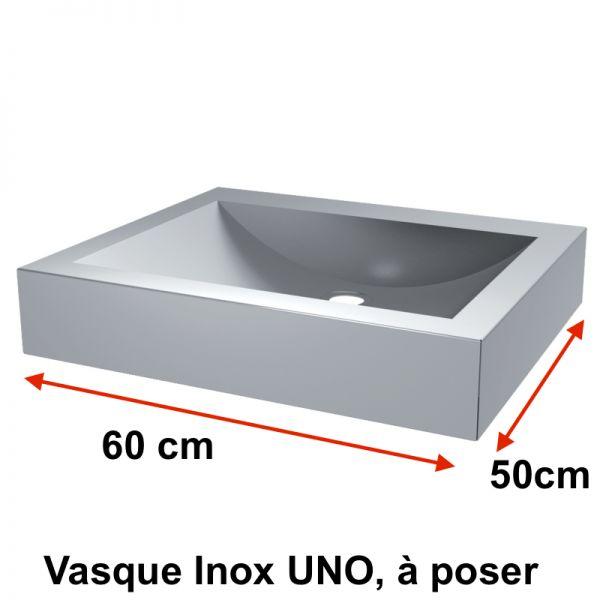 waschbecken inox edelstahlsp le uno auf dem tisch. Black Bedroom Furniture Sets. Home Design Ideas