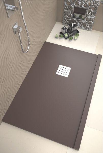 duschwanne longueur 120 duschwanne 120 cm ultraflach frontal schwarz. Black Bedroom Furniture Sets. Home Design Ideas