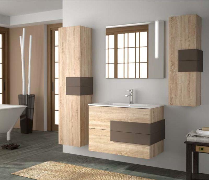 Badm bel waschbecken handwaschbecken meuble sdb badm bel 100 cm cronos 1000 2t - Badmobel 100 cm ...