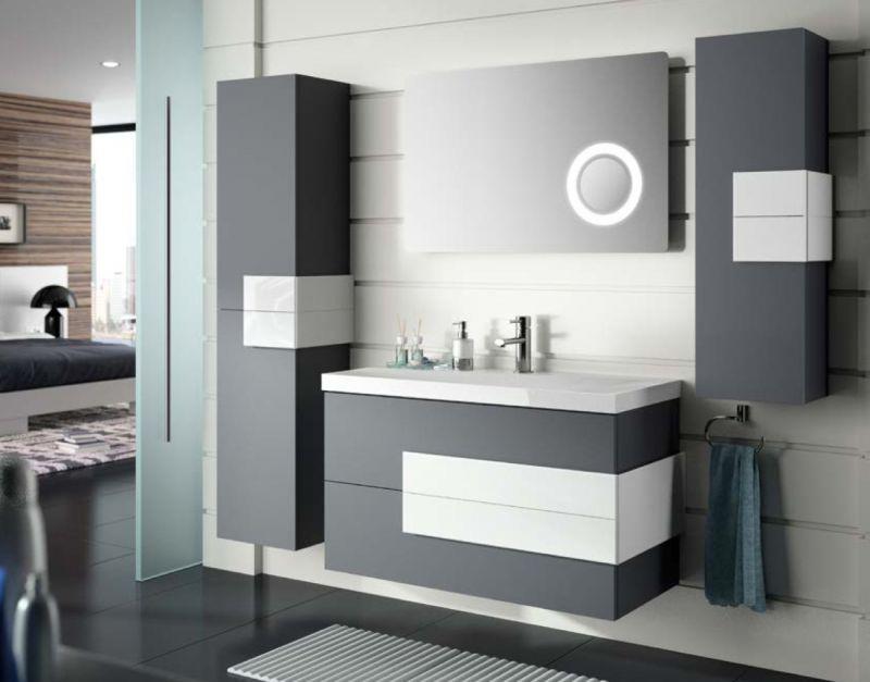 Badm bel waschbecken handwaschbecken meuble sdb badm bel 100 cm cronos 1000 moka - Badmobel 100 cm ...