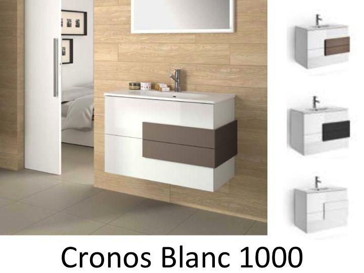 Badm bel waschbecken handwaschbecken meuble sdb badm bel 100 cm cronos 1000 wei - Badmobel 100 cm ...