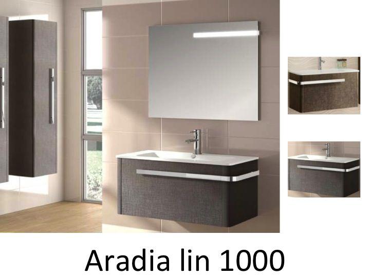 Badm bel waschbecken handwaschbecken meuble sdb badm bel 100 cm aradia 1000 - Badmobel 100 cm ...