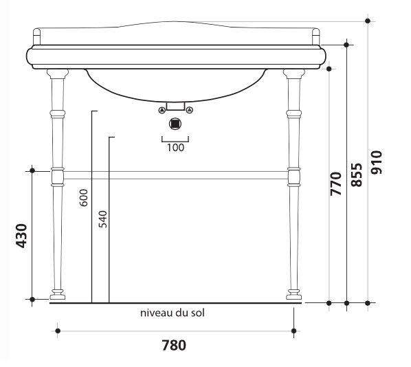 waschbecken accessoires waschbecken paris retro glossy wei er keramik. Black Bedroom Furniture Sets. Home Design Ideas