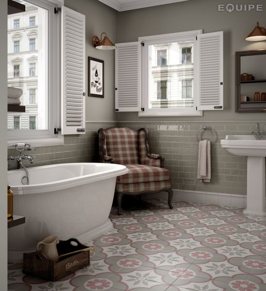 Boden Und Wandfliesen Aspect Cx Ciment Art Deco Pastel.