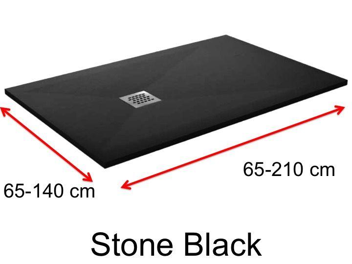 duschwanne longueur 110 duschwanne 110 cm ultraflach harz farbe schwarz. Black Bedroom Furniture Sets. Home Design Ideas