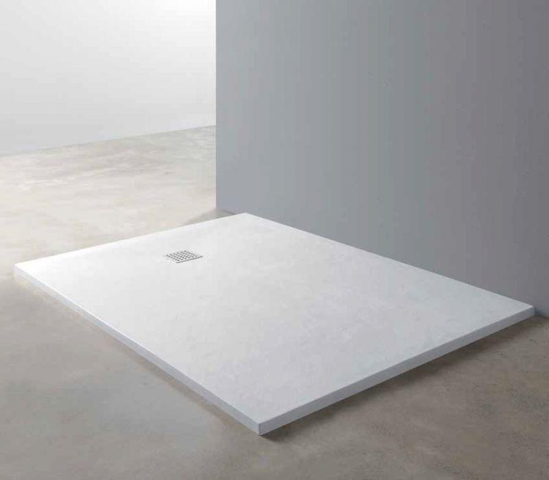 Corian F?r Dusche : 95-100 x130, Duschwanne Corian Stil Resin Solid Surface, Wei? Piedra