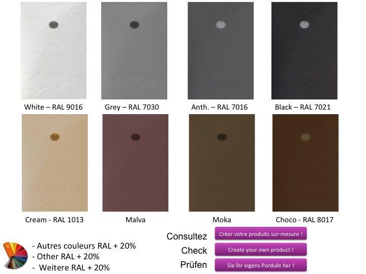 farbe anthrazit duschwanne 100 cm ultraflach geringe graae schiefer effekt schwarz