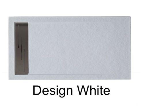 duschwanne longueur 160 duschwanne 160 cm harz matt steineffek desing extra flach farbe wei. Black Bedroom Furniture Sets. Home Design Ideas