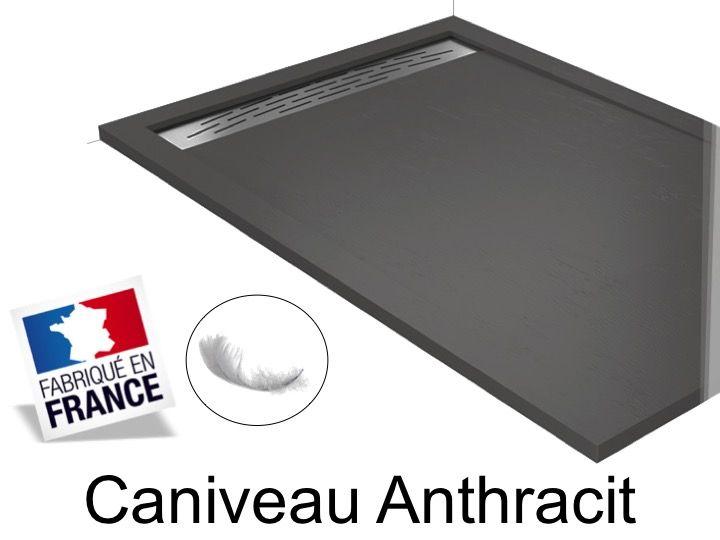 duschwanne longueur 130 duschwanne 130 cm caniveau anthrazit. Black Bedroom Furniture Sets. Home Design Ideas