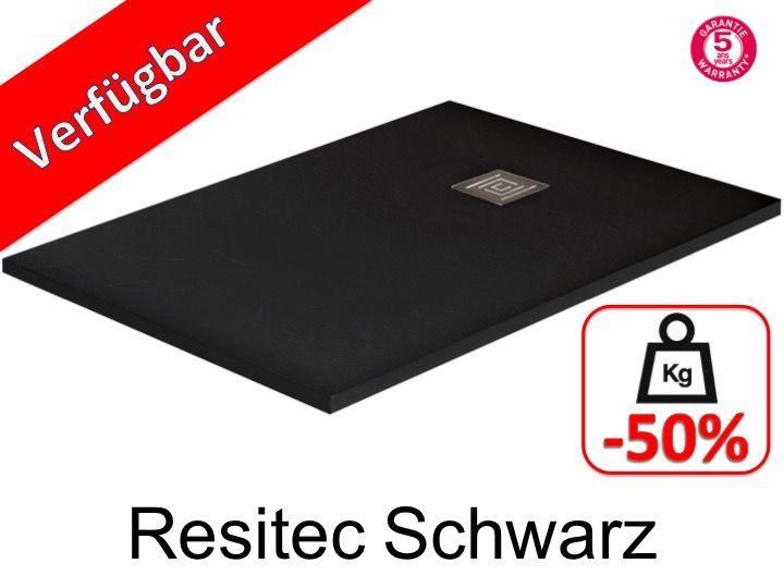 duschwanne longueur 150 duschwanne 150 cm resitec schwarz. Black Bedroom Furniture Sets. Home Design Ideas